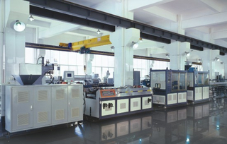Single Screw Profile Extrusion Line