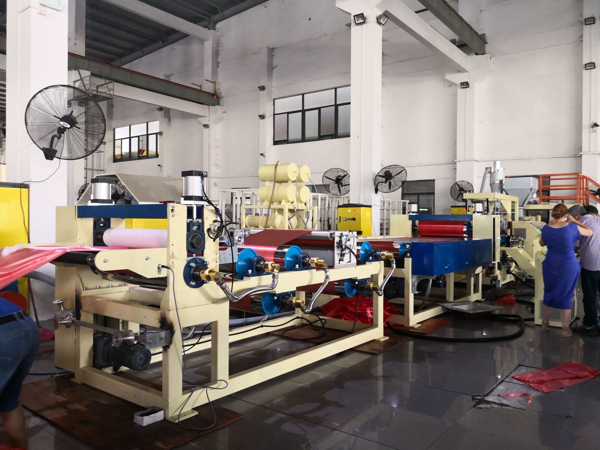 Greece client inspected PP ribbon film machine