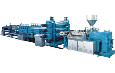 PVC Conical Twin-screw Corrugated Sheet Extrusion Machine